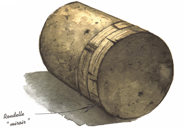 Fabrication du bouchon à champagne, assemblage du bouchon à champagne