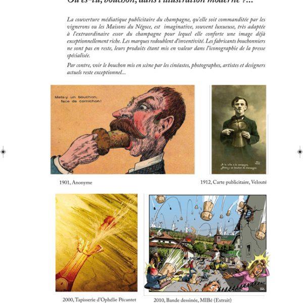 Histoire du bouchon à Champagne et d'une famille de bouchonniers - : Ou es tu le bouchon, dans l'illustration moderne