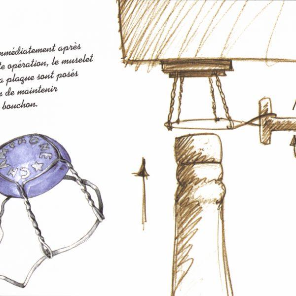 Livret illustré Le Bouchon à Champagne par Barangé - Bouchage et muselage