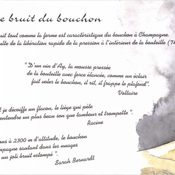 Livret illustré Le Bouchon à Champagne par Barangé - Le bruit du bouchon